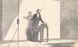 Charles Dickens gives a reading